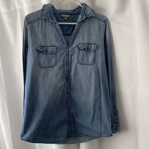 Rubbish Chambray Boyfriend Shirt - Junior Sz Large